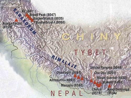 Cordillera Del Himalaya Mapa.Pagina Nueva 1